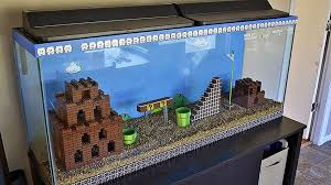 the best aquarium is a lego mario bros aquarium nerdist