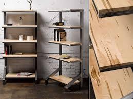 custom ambrosia maple bookshelves by where wood meets steel