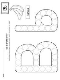 alphabet do a dot worksheets preschool literacy pinterest