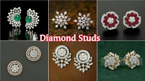 daily wear diamond earrings amazing dailywear diamond studs collection