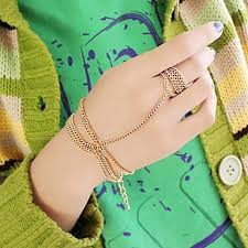 bracelet ring design images 2014 latest design simple gold plated chains bracelet connectedd jpg