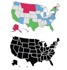 vector usa map usa map united states of america map by state vector image