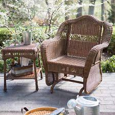 Wicker Patio Furniture Ebay Outdoor Wicker Chair Swivel Rocking Steel Frame Glider Porch Patio