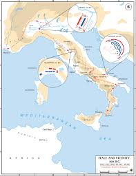 Map Of Ancient Italy by Map Of Hannibal U0027s Route Second Punic War