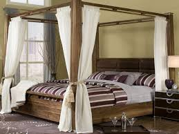 Canopy Curtains Brown Stripe Black Bed Cover White Fabric Canopy Curtain Shades