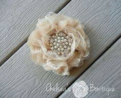 this shabby chic fabric flower corsage bracelet is perfect for