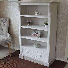 cream rustic bookcase with drawer lyon range melody maison antique