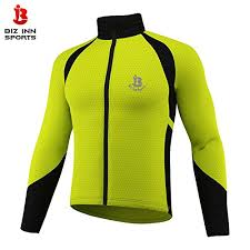 fluorescent cycling jacket winter cycling jackets long sleeve windproof thermal windstopper red