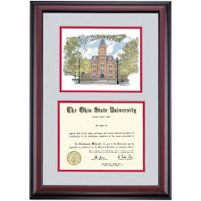 college diploma frame ohio state premier watercolor diploma frame ohio