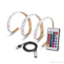 self adhesive strip lights smd5050 rgb led strip light usb power supply waterproof flexible