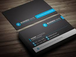 modern blue corporate business card template free cp00012