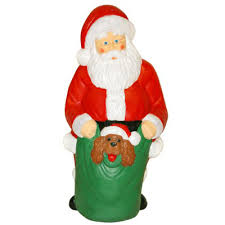 lighted christmas decorations christmas blow molded santa w