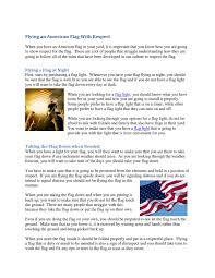 American Flag On Ground Flying An American Flag With Respect By Mcclain My Issuu