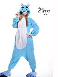 Size Animal Halloween Costumes Hippo Onesie Animal Footed Pajamas Size Polar