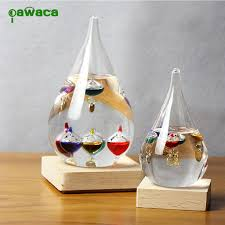 home decor ornaments galileo weather temperature thermometer floating color balls glass