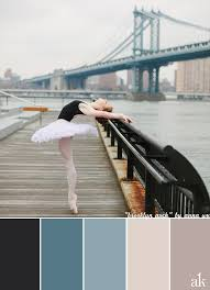a ballerina inspired color palette black gray blue stone