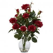 Vases Of Roses Artificial Rose Arrangements Foter