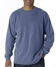 Long Sleeve Comfort Colors Comfort Colors Long Sleeve Basic Tees For Men Ebay