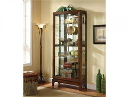 Wooden Wall Display Cabinets Decoration Beech Corner Display Cabinet Sliding Glass Door Curio