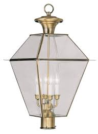 williamsburg style outdoor lighting antique style outdoor l post antique brass single light outdoor