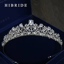 aliexpress buy new arrival white gold color aaa hibride aaa cz tiara king crown wedding hair jewelry micro pave