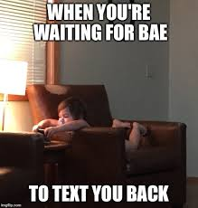 Waiting For Text Meme - baby girl imgflip