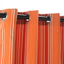 Orange And White Striped Curtains Curtains Vertical Striped Curtains For Classy Interior Home