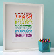 teacher rules personalised poster great gifts for teachers
