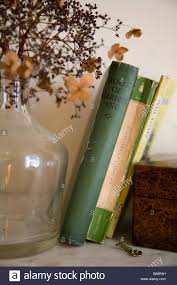 Victorian Glass Vase Vintage Gardening Books Victorian Glass Vase And Dried Lacecap