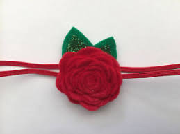 felt flower headband christmas felt flower headband baby headband newborn headband