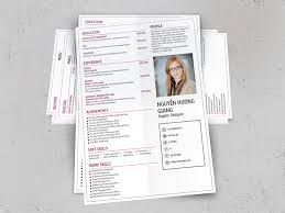 matebe simple but creative and professional cv template 25 in pink