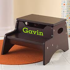 personalized step stools for kids espresso kids gifts