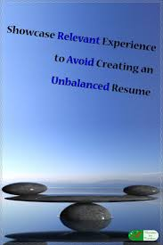resume writing tip 178 best resume writing tips for all occupations images on showcase relevant experience to avoid creating an unbalanced resume resume writingwriting tipsteaching