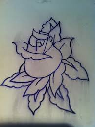 outline rose tattoo pictures to pin on pinterest tattooskid