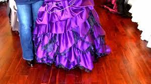 purple wedding dress youtube