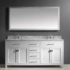 Paint Laminate Vanity White Grey Bathroom Design And Decoration Using Double White Wood