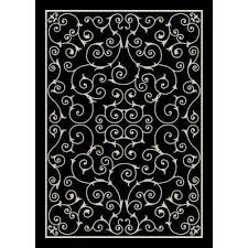 Black And Gray Area Rug 5 X 7 Outdoor Rugs Rugs The Home Depot