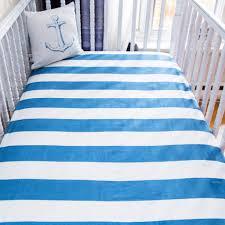 organic crib fitted sheet navy stripes polka dots grey