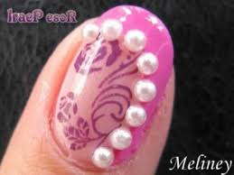 konad stamping nail art tutorial rose pearl pink design for