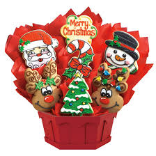 cookie basket delivery christmas sugar cookies christmas bouquets cookies by design