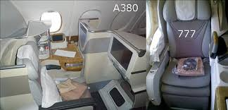 Emirates Airbus A380 Interior Business Class The Emirates 777 And A380 Head To Head Trip Report Guest Post