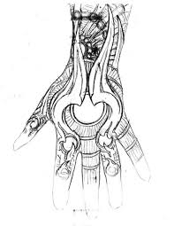 biomechanical viking tattoo sketch photos pictures and sketches