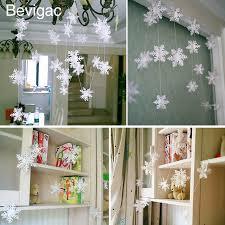 bevigac 12 pcs winter snowflake ornaments with string