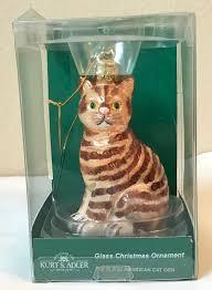 ebay ksa kurt s adler inc ksa glass american short hair cat christmas