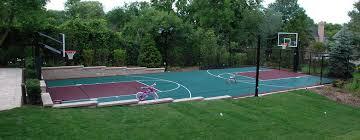Backyard Tennis Courts by Outdoor Basketball Court Builder U2014 Power Court