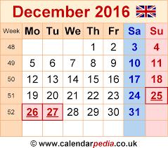 december 2016 calendar uk monthly calendar printable