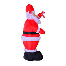 aosom homcom 8ft indoor outdoor led inflatable holiday christmas