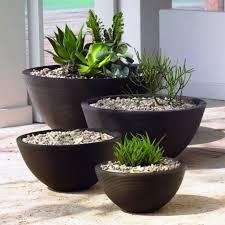 modern herb pots vintage 3 pot chrome planter mid century modern