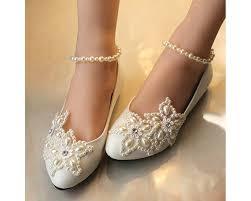 wedding shoes flats getmorebeauty s flats pearls across