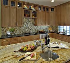 furniture natural kitchen with l shaped brown oak cabinet also